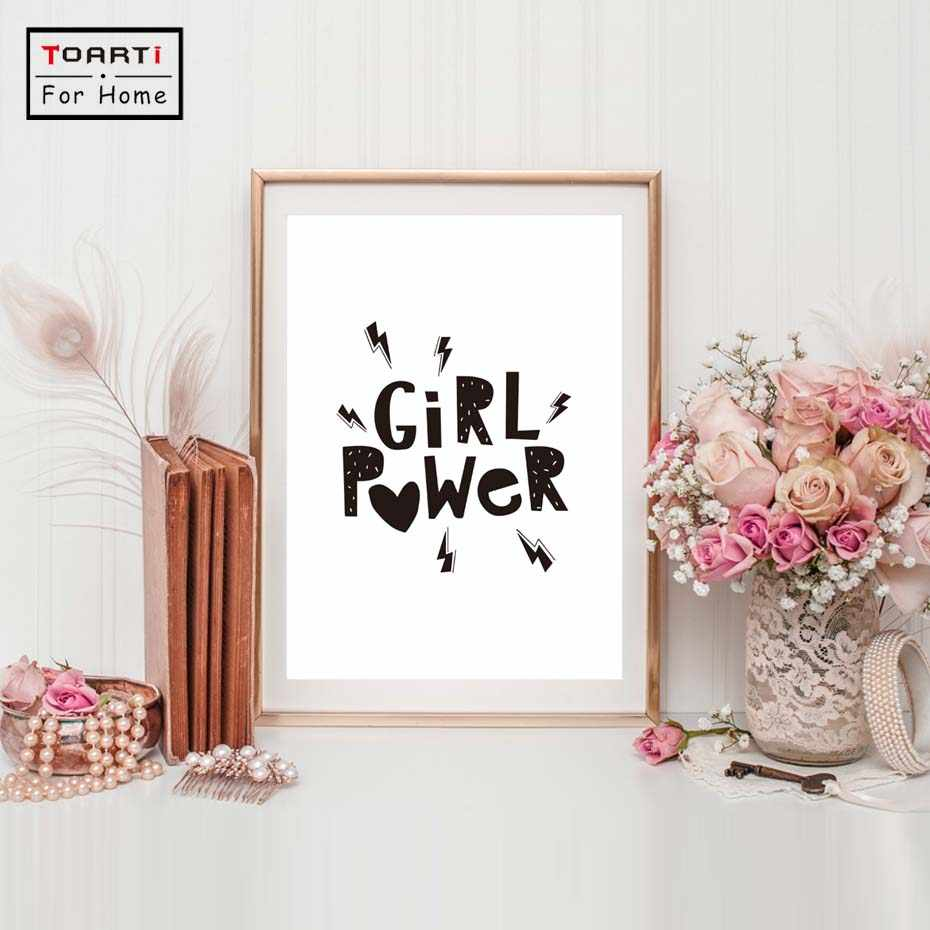 Inspirational Quote Canvas Art Print Girl Power Canvas Painting Poster Girls Room Decor Cuadros Decoration