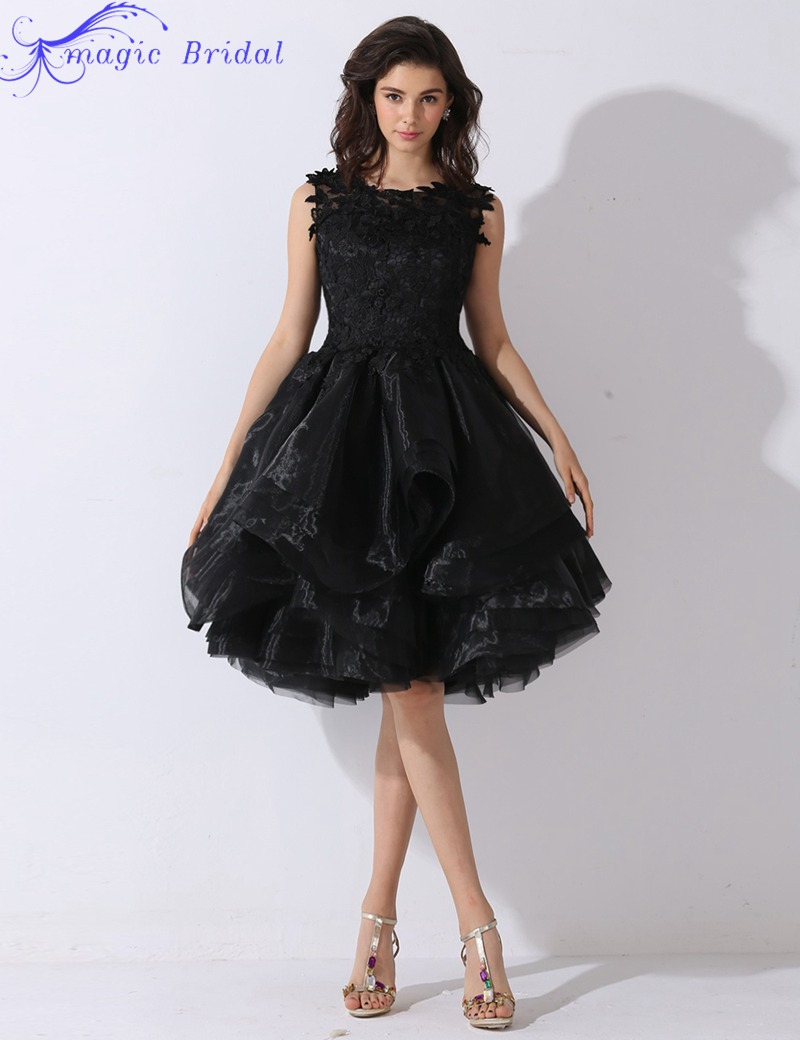 Compare Prices on Short Black Prom Dresses- Online Shopping/Buy ...