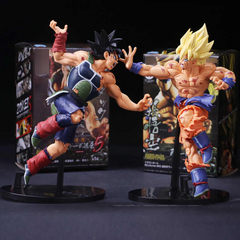 Hot Anime Dragon Ball Z Bardock Ressurreição F Super Saiyan Goku PVC Action Figure Collectible Modelo Toy Boneca 23 cm