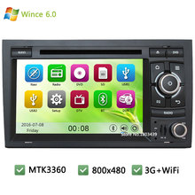 MTK MT3360 A2DP RDS Wince 6.0 Car DVD Multimedia Player Radio Stereo Screen PC GPS Support 3G WIFI For Audi A4 S4 RS4/SEAT EXEO