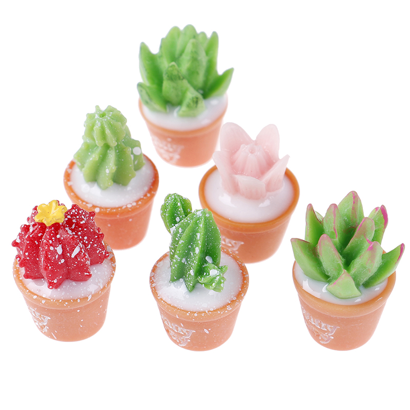 5Pcs/Lot Cactus Potted Plant Polymer Slime Charms Lizun Modeling Clay DIY Accesories Box Toy For Children Slime Supplies Filler