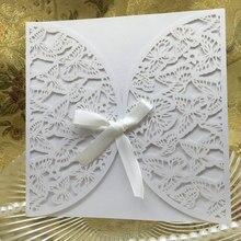 Krásné bílé přáníčko se vzorem motýlů – 20 ks