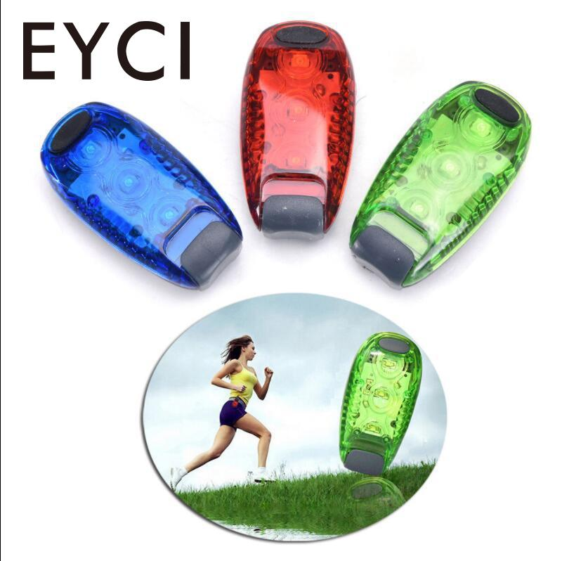 EYCI Bicycle Taillight 3 Colors Safety Warning LED Light Clip Joggin Light Lamp