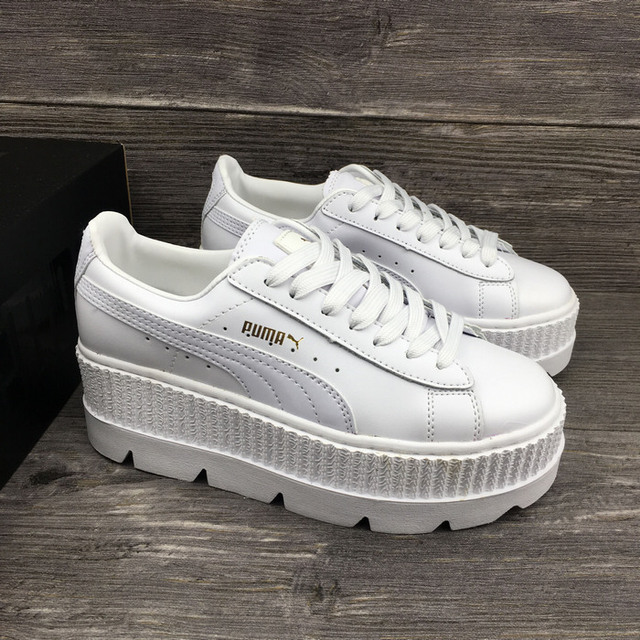 size 40 2aa33 caf67 2019 Puma Fenty Suede Cleated Creeper Women s Rihanna Classic Basket Suede  Ankle-High Fashion Sneaker Badminton Shoe 36-40