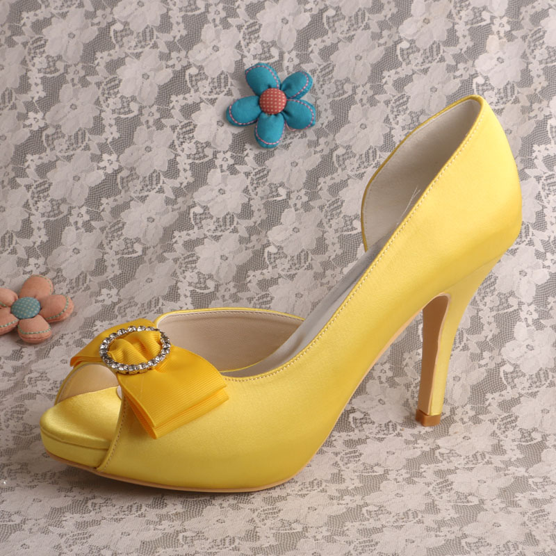 Pale Yellow Heels Promotion-Shop for Promotional Pale Yellow Heels ...