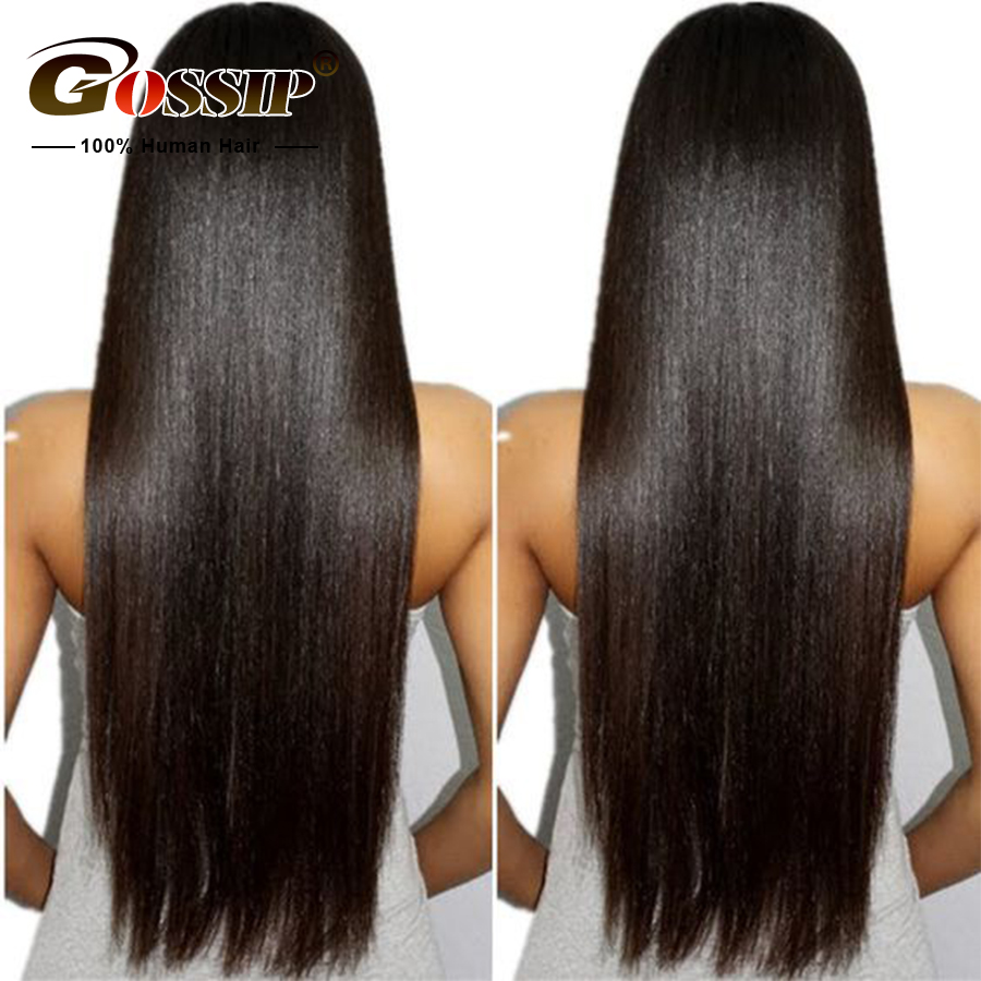 "6"" Lace Front Human Hair Wigs For Black Women Gossip Hair Lace Front Wig Brazilian Straight Hair Wigs Human Hair Lace Front Wigs"