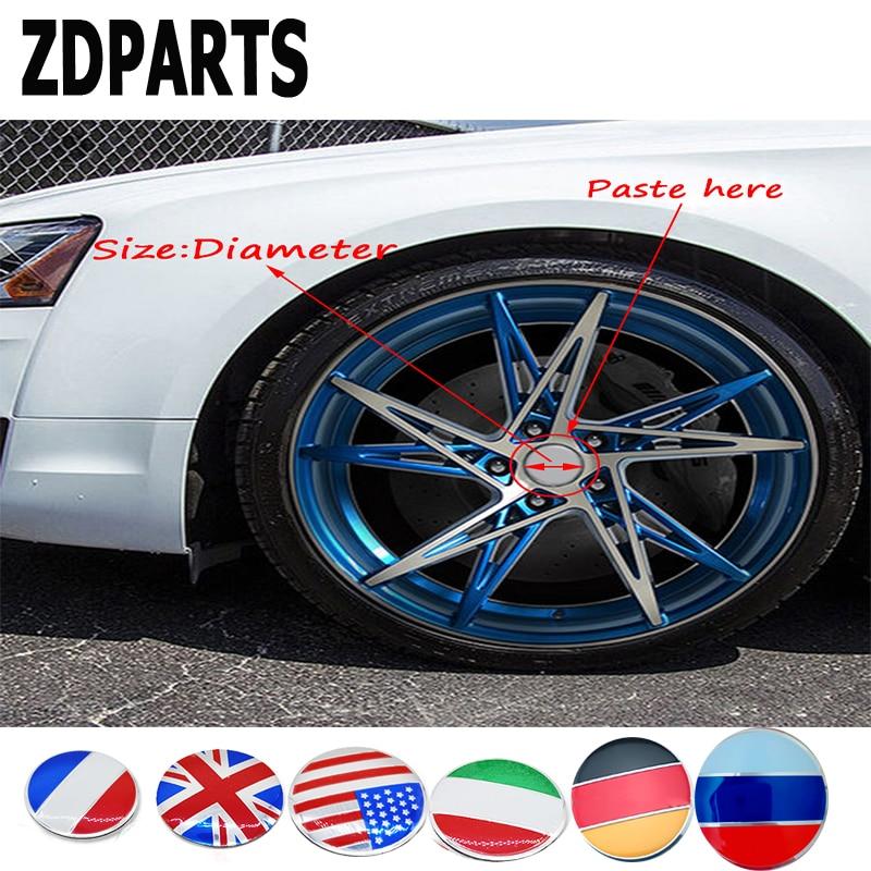 ZDPARTS 56MM Car Styling Flag Wheel Center Hub Cap Cover Sticker For Audi A3 A4 B7 B8 B6 A6 C6 C5 Q5 Nissan Qashqai Juke X-trail