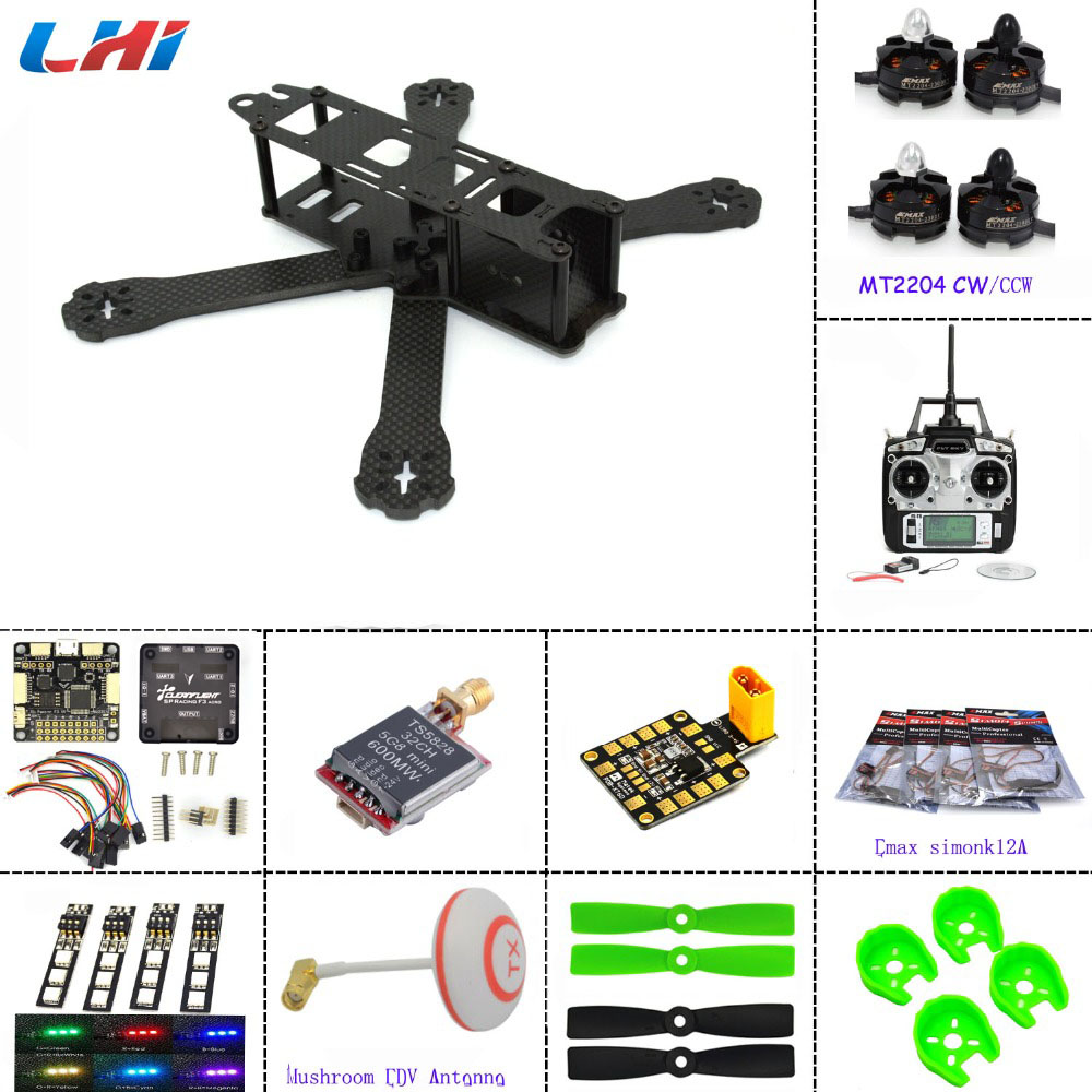frame for QAV-R 220+F3 Flight Controller emax 2204 2300KV Motor Carbon fiber DIY mini drone FPV 220 220mm quadcopter m pcp a 14n m ha temperator controller used in good condition