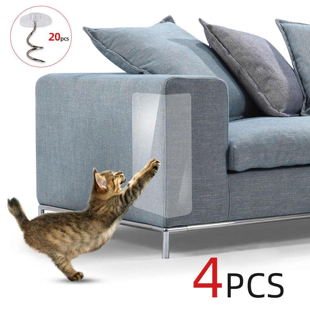 Protege Canape Pour Chat 4 pièces canapé chat rayures gardes tapis grattoir chat
