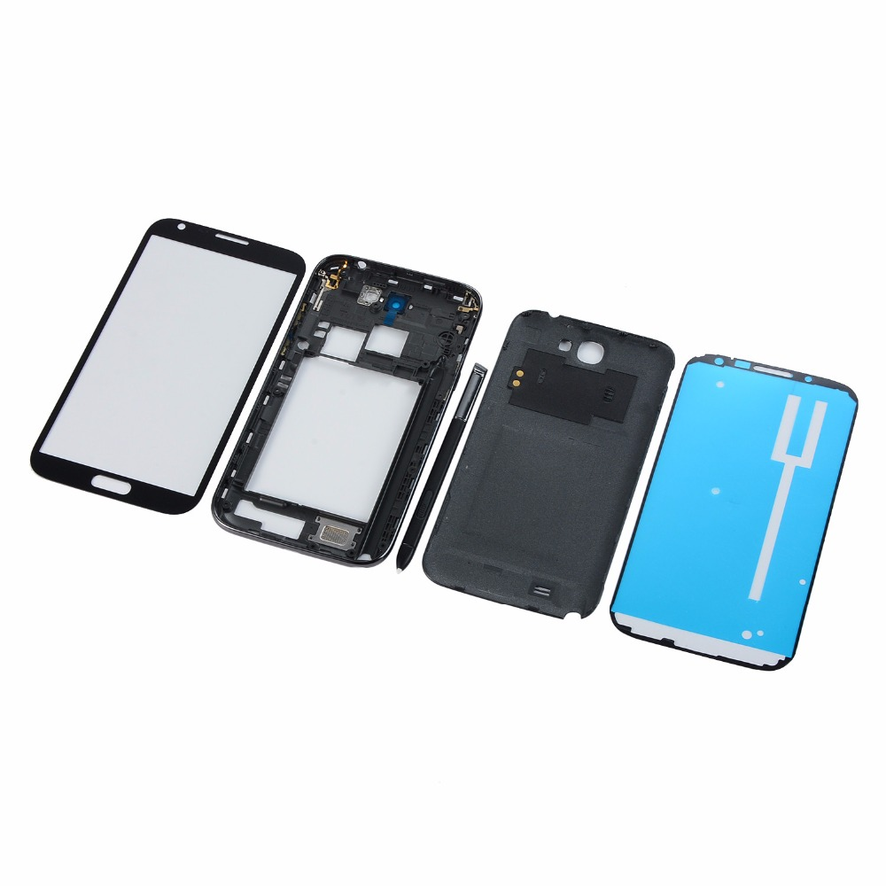 For Samsung Note 2 GT-N7100 N7100 LCD Display Touch Screen Panel+Housing  Middle Frame Back Battery Cover+Tools