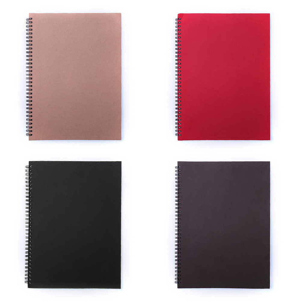 Korean Spiral Notebook A4 Kraft notebook notepad with Craft Paper Cover Dot Grid Blank Line Filler Paper Office School Supplies notebook a4 inside page spiral 60 sheets 3 hole filler paper blank and line kraft paper office and school supplies writing pads href