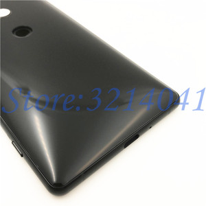 Image 5 - Original New 5.7 inches For Sony Xperia XZ2 Glass Back Battery Cover Rear Door back case Housing Case Repair parts +Logo