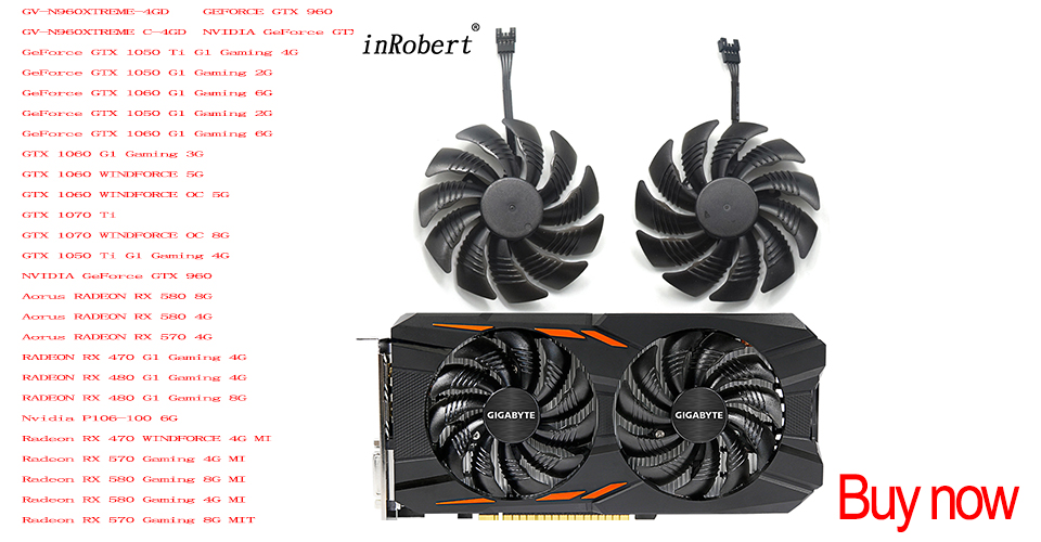 87mm T129215SU PLA09215S12H 4Pin 42mm Cooler Fan For Gigabyte GeForce GTX  960 GTX 950 R9 390 380 Graphics Video Card Cooling Fan