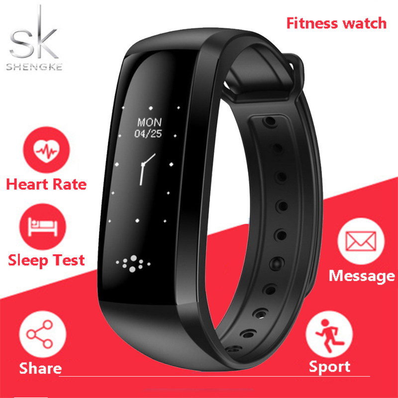 Shengke Bluetooth Smart Bracelet Watch Sport Women Men Clock Blood Pressure Heart Rate FitnessTracker Pedometer For Android IOS gimto new men sport smart watch led digital waterproof bluetooth smartwatch heart rate blood pressure pedometer for ios android