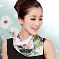 2016 Quality Silk Small Facecloth Women Square Silk Scarf,Hot Sale Spring And Autumn Mulberry Silk Scarf,Flower Pattern Scarf