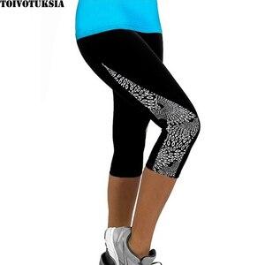 Image 3 - TOIVOTUKSIA kadın tayt kapriler baskılı siyah süt Clzas Deportivas Mujer yaz 7 Leggins
