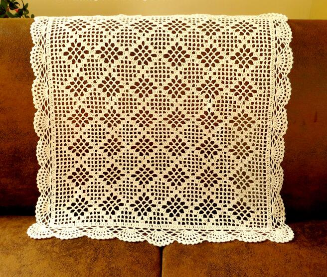 Handmade Crochet Flower Rectangle Tablecloths Cotton Sofa Towel Vase Mat  Coffee Tabel Cloth Home Cover Cloth Home Textile In Tablecloths From Home U0026  Garden ...