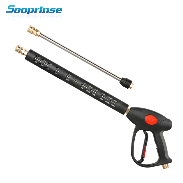 Sooprinse High Pressure Washer Gun Wand Tips Water Gun foam lance foam gun car wash 4000PSI for penogenerator car accessories