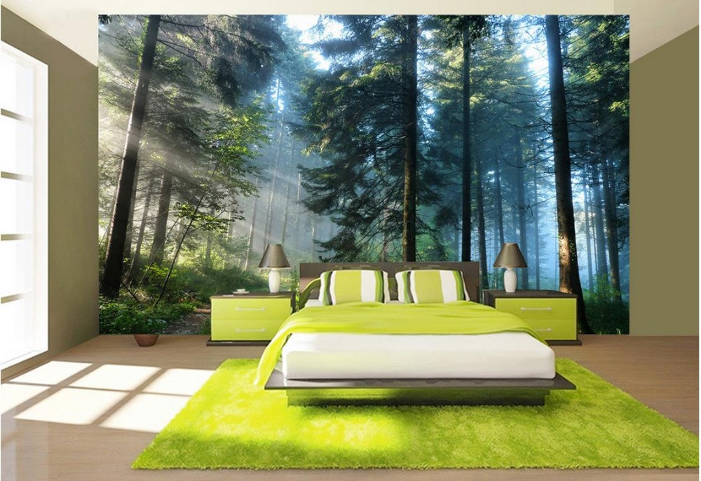 Buy 3d room wallpaper landscape green for Modern 3d wallpaper for bedroom