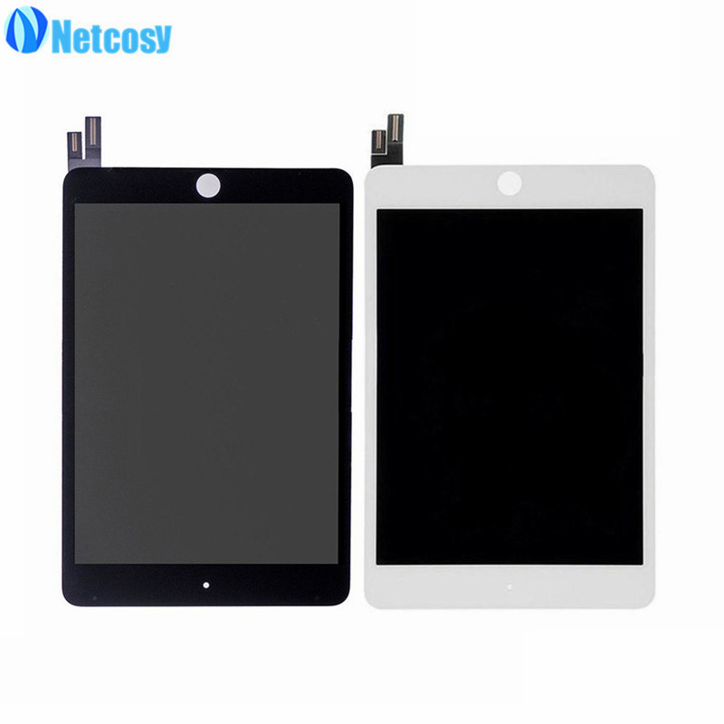 Netcosy For ipad mini4 LCD screen Full LCD display+Touch screen assembly repair parts For ipad mini 4 A1538 A1550 Black / White new original black full lcd display