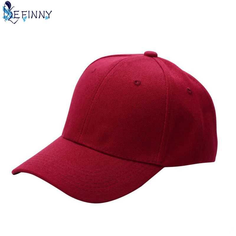 f0071b3b456 EFINNY Fashion Men Women Plain Baseball Cap Unisex Curved Visor Hat Hip-Hop  Adjustable Peaked