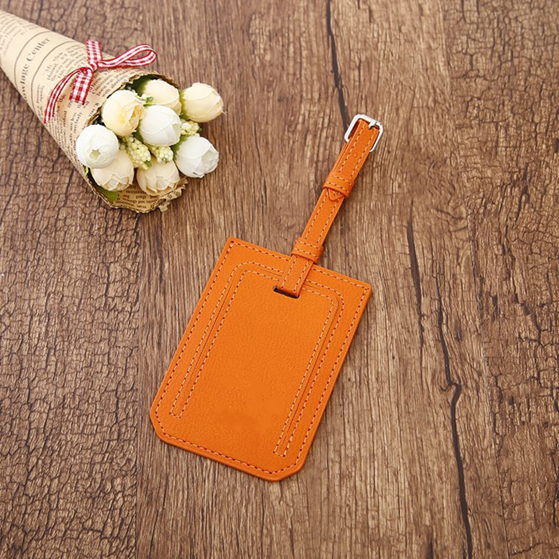 Travel Accessories PU Leather Luggage Tag Suitcase ID Address Holder Baggage Boarding Tags Portable Label High Quality Wholesale