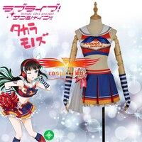 LoveLive!SunShine!! Aqours Kurosawa Dia Cheering Squad Cheer team Cheerleaders Awakening Cosplay Costume Adult Women Top Skirt