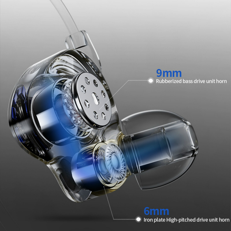 Image 3 - Headphones Earphone Hifi Stereo Deep Bass Earbuds with microphone Headset with Hybrid Driver for Running Jogging Walking-in Phone Earphones & Headphones from Consumer Electronics
