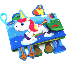 teytoy Animal Soft Activity Baby Book Early Education Toys Activity Crinkle Cloth Book for Toddler 1pc baby educational learning toys infant cloth book cartoon animal pattern baby soft activity crinkle cloth books 1