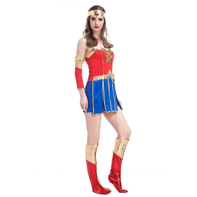 VASHEJIANG Sexy Wonder Woman զգեստները - Կարնավալային հագուստները - Լուսանկար 4