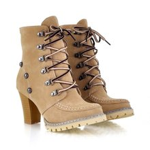 ENMAYER Free Shipping Hot Sale New Stylish High Qulity Boots For Lady, Ladies Brown&Pink&Light Green& Women