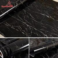 60 cm X 5 m Beyaz Siyah Mermer Kendinden Yapışkanlı Duvar Kağıdı Vinil PVC Banyo Mutfak Tezgah Dolap Yenileme Ambry Duvar çıkartmalar