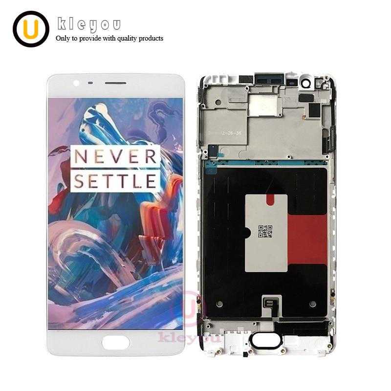 5.5 OEM Amoled Pour Oneplus 3 t LCD Affichage à L'écran Tactile Digitizer Assemblée A3010 A3003 A3000 OnePlus Trois Affichage écran