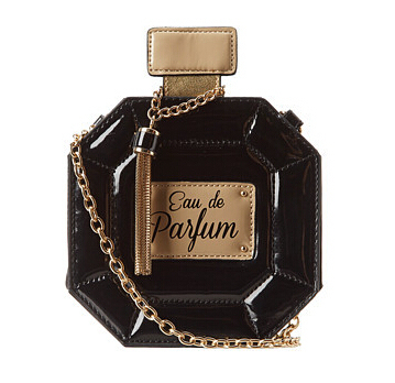 2014 perfume bottle bag in womans evening bag small Y chain bag  Women's Clutches With Shoulder Chain For Wedding Prom Party