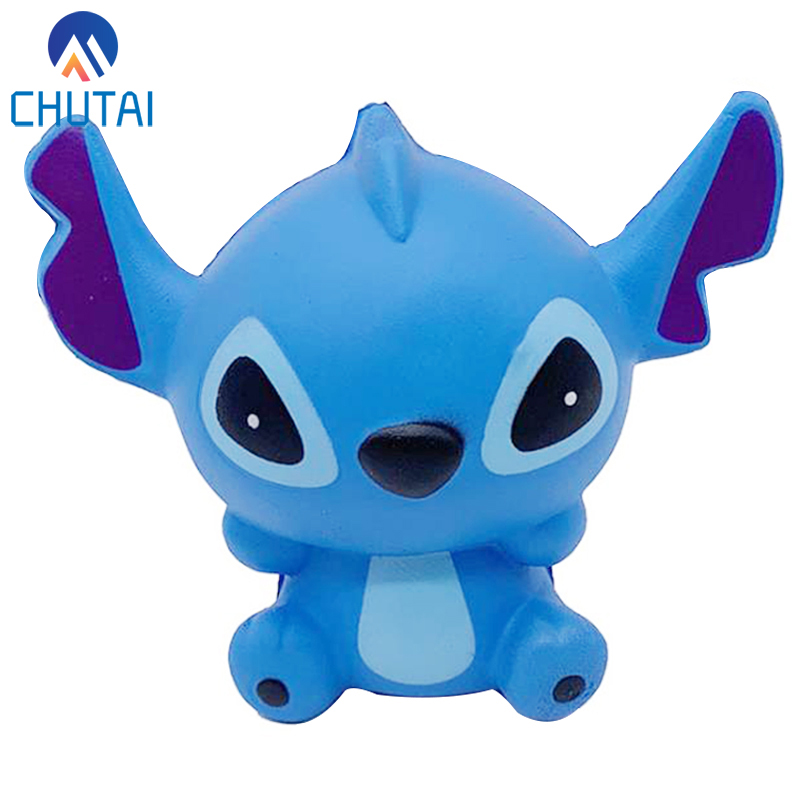 Kawaii Jumbo Simulation Stitch Slow Rising Squishy Scented Stress Relief Squeeze Toys For Kids Birthday Xmas Gift 12x10.5x7 CM