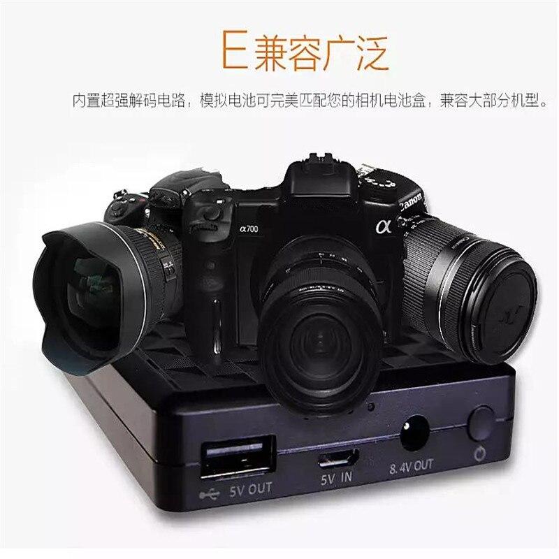 LP-E6N LP-E6 8000mAh Camera External Power Supply for Canon EOS5D Mark II III 7D 60D 6D 5D4 80D Smartphone External Mobile Power kingma lp e6 2 slot usb battery charger for canon eos 5d mark iii 6d 7d mark ii 7d 70d 60 60da