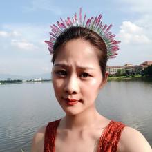 2019 New Handmade Natural Tiara Crystal Natural Quartz Crystal Crown Hair Combs Angel Aura Headband Mermaid Wedding Accessories