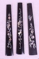 3pcs violin fingerboard ,ebony Different Flower bird inlay High Quality