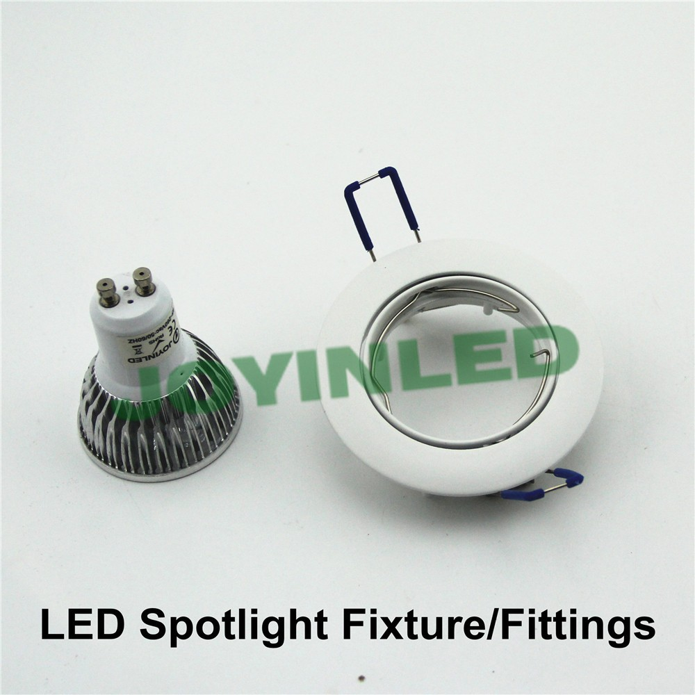 Cut hole 60mm white round recessed gu10 mr16 spot down light holder 10pcs lamp fixture aeproducttsubject arubaitofo Images