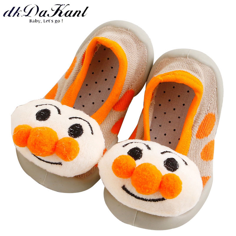 dkDaKanl 0-3 years old non slip baby toddler shoes Soft rubber sole breathable prewalker shoes moccasins Baby casual socks
