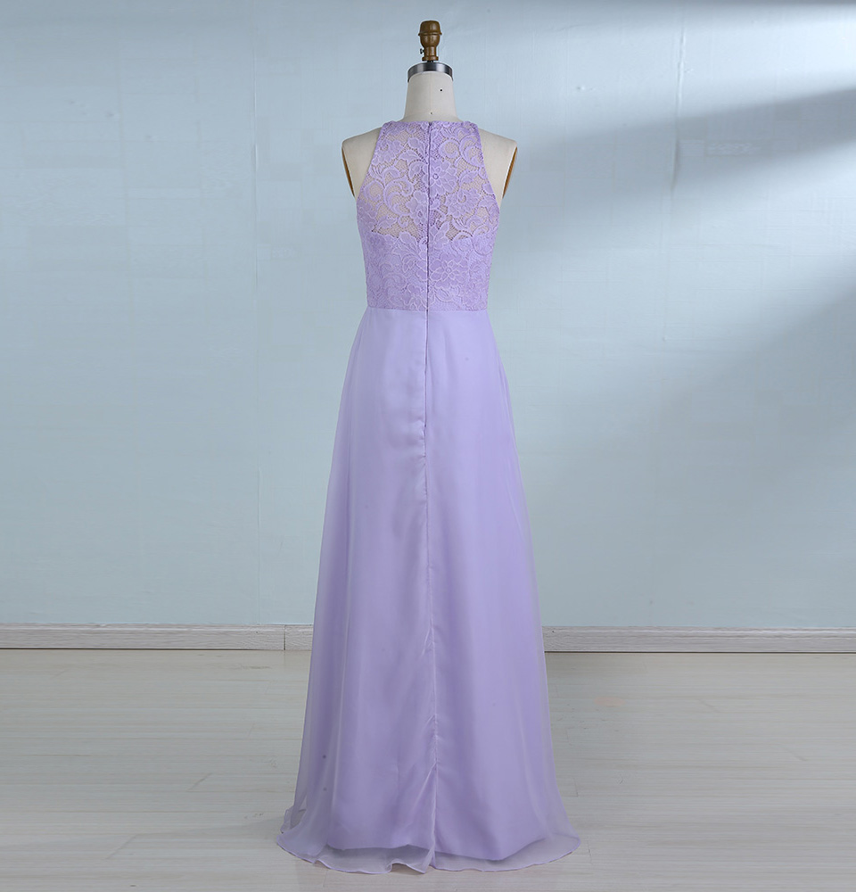 d6bef632aac BeryLove Long Lavender Evening Dresses 2018 Simple Lace Prom Dress Lilac Evening  Gowns Formal Dress Special Occasion Dress-in Evening Dresses from Weddings  ...