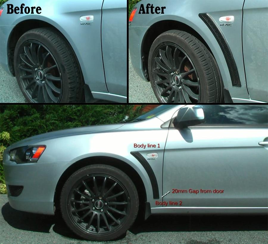 Evo 10 X Style Black Mesh Polyurethane Front Fender Cubierta de - Accesorios de interior de coche - foto 2