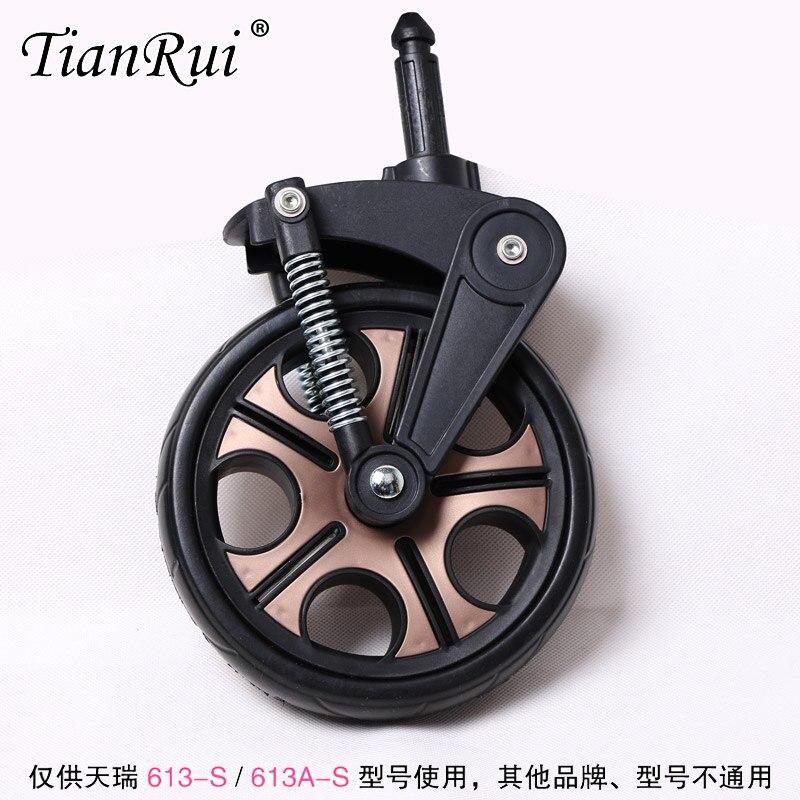 Yibaolai aimile wingoffly wisesonle welebao bébé poussette landau en caoutchouc mousse avant arrière remplacer roue frein pièce accessoire