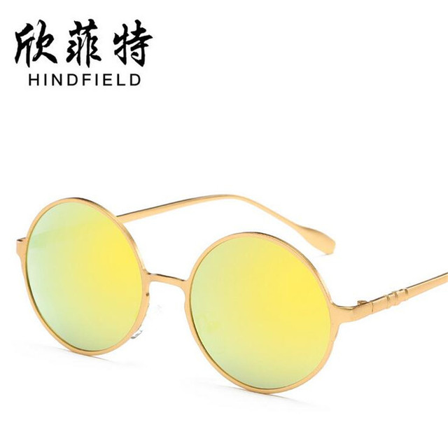 9acc347b25 Fashion colorful multicolor Women sunglasses Unisex round Alloy frames glasses  Men high definition Polarized lens Eyeglasses