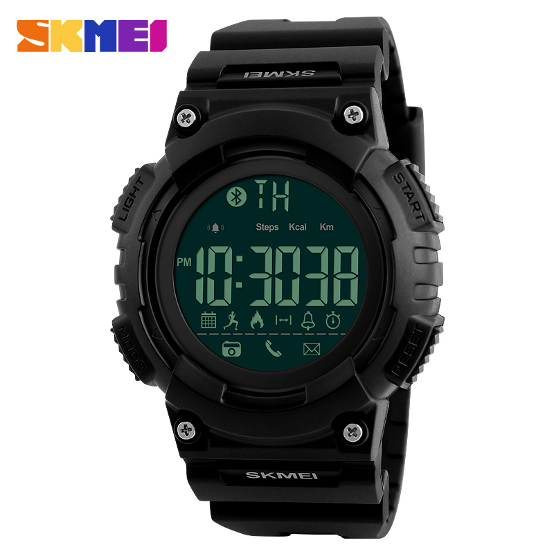 SKMEI Men Smart Watch Remote Camera Call Reminder Digital Wristwatches Pedometer Waterproof Man Sport Watches Relogio
