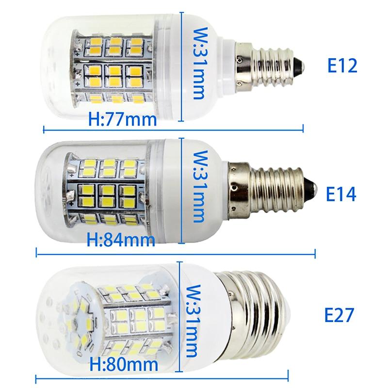Купить с кэшбэком 5 pieces bombilla led e14 E12 B22 E27 Gu10 G9 3W corn candle spotlight bulb lights Ac Dc 12 24 v volt 110v 220v super 2835 lamp