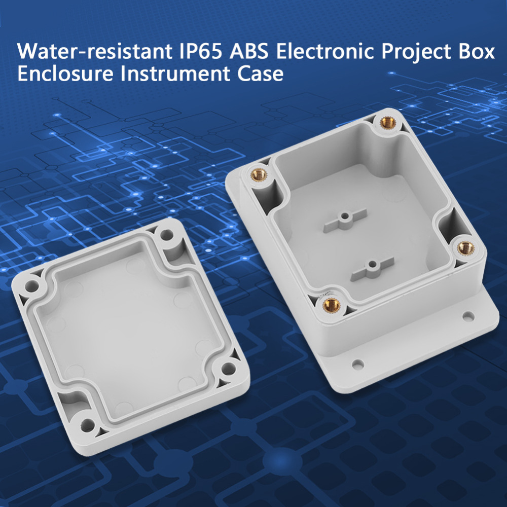 Water-resistant IP65 ABS Electrical Project Box Enclosure Instrument Case