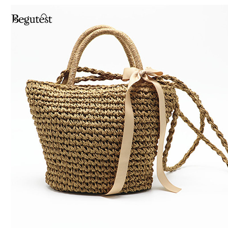 Summer Fashion Straw Beach Bags For Women Luxury Designer Best Beach Tote Bags Towel Basket Travel Handbags Ladies Shoulder Bag handmade flower appliques straw woven bulk bags trendy summer styles beach travel tote bags women beatiful handbags