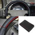 Car Auto Vehicle Synthetic Leather Steering Wheel Glove Rim Cover with Thread
