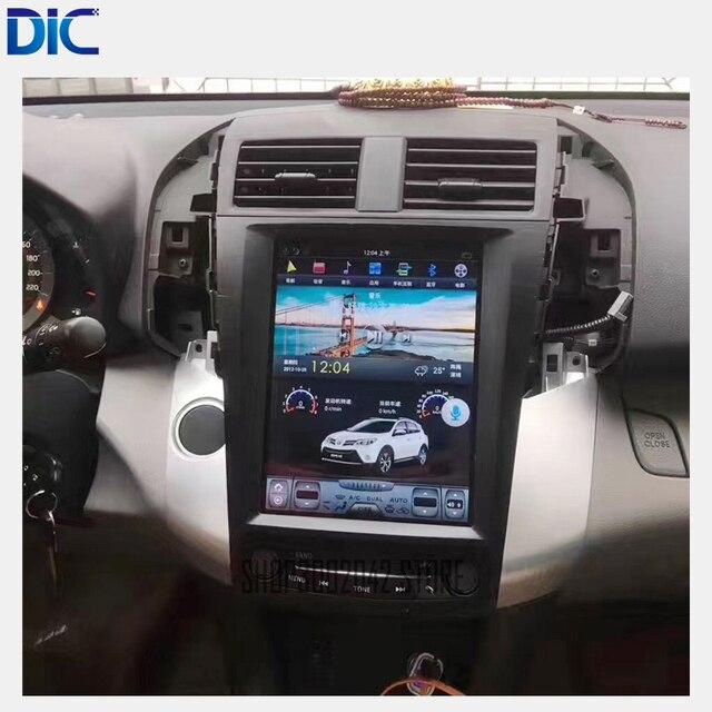 DLC Vertical da tela de Navegação GPS player Do Carro Android Rádio sistema de ligação espelho Direção-Roda Para toyota RAV4 2009- 2013
